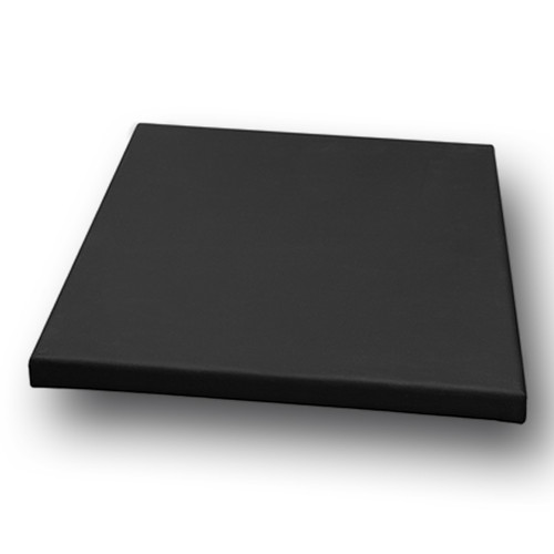 """2-1/2"""" Stretched Black Cotton Canvas  18X18: Box of 5"""