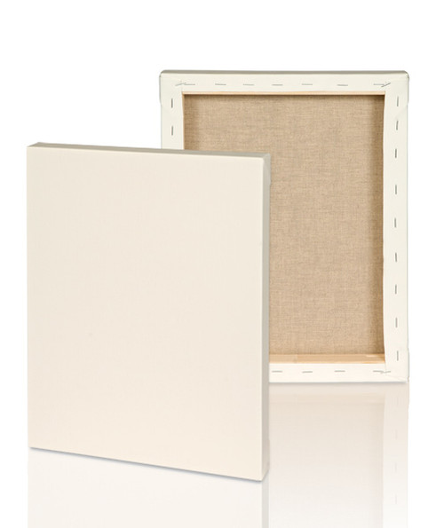 "Extra fine grain :2-1/2"" Stretched Portrait Linen canvas  6x6: Box of 5"