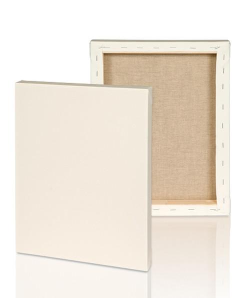 """Extra fine grain :2-1/2"""" Stretched Portrait Linen canvas  4x6: Single Piece"""