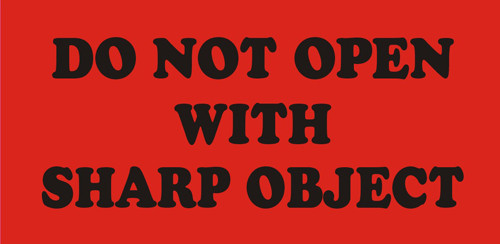 "2 x 4"" Shipping Labels - ""Do Not Open With Sharp Object"""