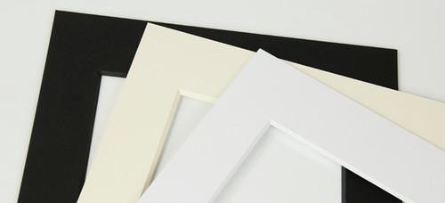 0.120'' 8 ply White core Mats : 8 X 10 For 5 X 7 Artwork