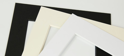 0.120'' 8 ply White core Mats : 18 X  24 For  12 X 18 Artwork