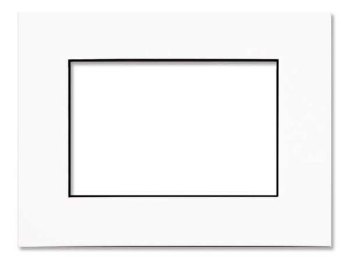 "0.060"" Black Core Single Mats : 14 X 18 For  9 X 12 Artwork"