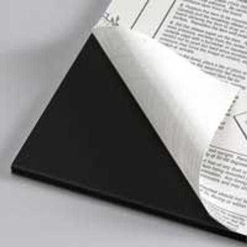 "3/16"" Black 1 Side Self Adhesive Foam Core Boards : 36 x 48"