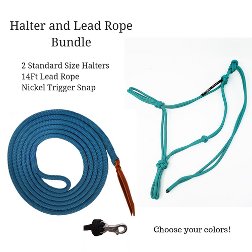 Halter and Lead Rope Bundle