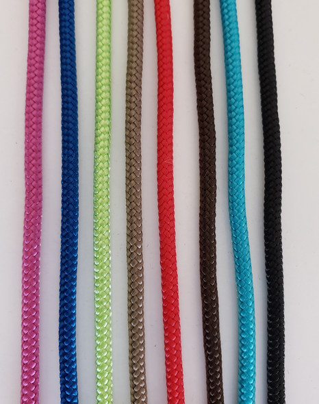 Noseband Colors (Left to Right) Rasberry, Blue, Lime, Jute, Red, Brown, Aqua, Black