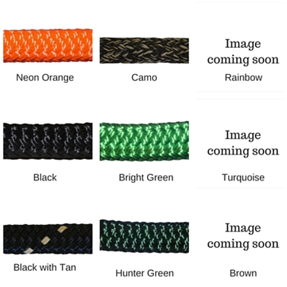 "9/16"" Double Braid Polyester (Yacht Rope) Color Choices"
