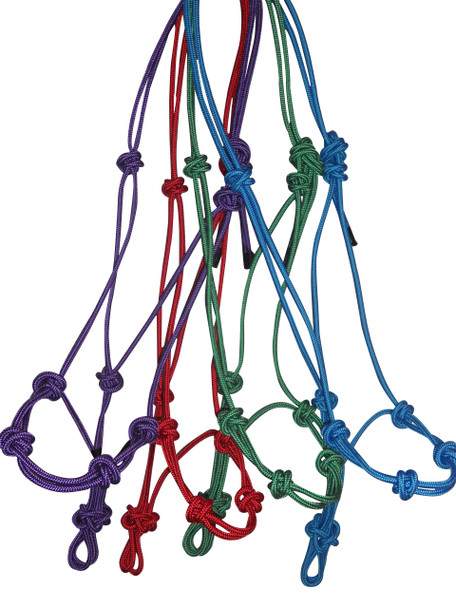 Firm Cord Halters, available in 2 knot or 4 knot noseband.