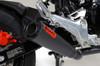 """ShortMeg 2 Full System Black Cerakote® 12"""" Muffler Grom (17-20) / MSX125 (16-20)"""