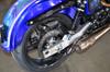 "Street-Pro Aluminum Swingarm (Black) 0-3"" Over w/ Spherical Bearings, Chain Guard and Peg Mounts for Harley-Davidson Dyna (00-17)"
