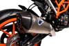 Buy Termignoni SO-01 Slip-On Titanium Sleeve w/ Carbon End Cap  KTM 390 Duke (17-19) SKU: 758606 at the price of US$  579   BrocksPerformance.com