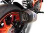 Termignoni SO-04 Slip-On Cylindrical  Titanium Sleeve with Carbon End Cap KTM 390 Duke (17-19)