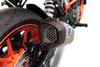 Termignoni SO-04 Slip-On Cylindrical  Titanium Sleeve with Carbon End Cap KTM 390 Duke (17-19)