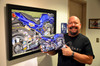 "Brock's Bandit: Art by Eric Herrmann 8""x 12"" on Aluminum Titled ""Seven"""