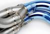 """TiWinder Blue Full System w/ 18"""" Muffler Street Baffle GSX-R1000 (07-08)"""