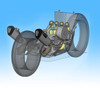 "CT Dual Full System w/ 16"" QuietKore Muffler ZX-14 (06-19)"