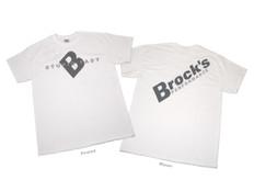 Buy Small Brock's Shirt White w/ Gray Logo SKU: 502177 at the price of US$ 14.99 | BrocksPerformance.com