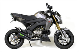 "Buy Alien Head 2 Full System Black Cerakote® 12"" Muffler Z125 Pro (17-20) 398568 at the best price of US$ 549 | BrocksPerformance.com"