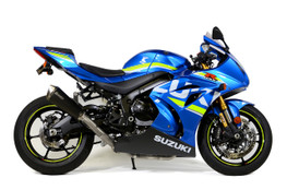 Buy Predator Full System - Stainless Front Section w/ Electro-Black Muffler GSX-R1000/R (17-21) SKU: 571166 at the price of US$ 1299   BrocksPerformance.com