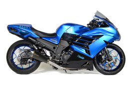 Buy Predator Full System - Stainless Front Section w/ Electro-Black Muffler ZX-14R (12-21) SKU: 571036 at the price of US$ 1199 | BrocksPerformance.com