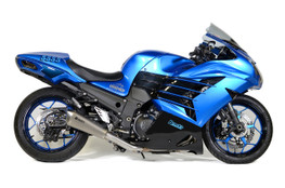 Buy Predator Full System - Stainless Front Section w/ Titanium Muffler ZX-14R (12-21) SKU: 571049 at the price of US$ 1279 | BrocksPerformance.com