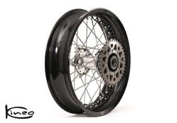 Rear Kineo Wire Spoked Wheel 3.75 x 17.0 - Moto Guzzi V7 (all)