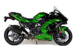 Buy Predator Slip-On System w/ Electro-Black Muffler Ninja H2 SX / SE / SE+ (18-21) SKU: 571244 at the price of US$ 759 | BrocksPerformance.com