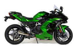 "Buy Alien Head 2 Full System Natural Finish 14"" Muffler Ninja H2 SX / SE / SE+ (18-21) SKU: 398802 at the price of US$ 1399 | BrocksPerformance.com"
