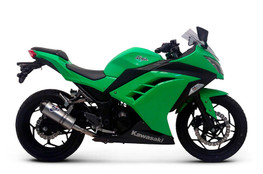 Termignoni Relevance Stainless/Carbon w/ Carbon End Cap Slip-On Ninja 300 (12-17)