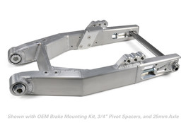 Buy Performance Dyna Swingarm w/ Peg Mounts (Burnished) for Harley-Davidson Dyna (00-17) 604439 at the best price of US$ 1379 | BrocksPerformance.com