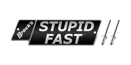 Buy STUPID FAST Logo Plate 5.5in Black w/ Silver Letters (Includes Rivets) SKU: LP997192 at the price of US$ 27.99 | BrocksPerformance.com