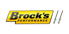 Buy Brock's Performance Logo Plate 5.5in Yellow w/ Black Letters (Includes Rivets) SKU: LP997114 at the price of US$ 27.99 | BrocksPerformance.com