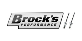 Buy Brock's Performance Logo Plate 5.5in White w/ Black Letters (Includes Rivets) LP997127 at the best price of US$ 24.99 | BrocksPerformance.com