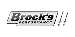 Buy Brock's Performance Logo Plate 5.5in White w/ Black Letters (Includes Rivets) SKU: LP997127 at the price of US$  24.99 | BrocksPerformance.com
