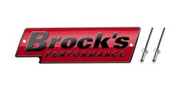 Buy Brock's Performance Logo Plate 5.5in Red w/ Black Letters (Includes Rivets) SKU: LP997140 at the price of US$  24.99 | BrocksPerformance.com