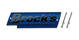 Buy Brock's Performance Logo Plate 5.5in Blue w/ Black Letters (Includes Rivets) SKU: LP997153 at the price of US$ 27.99 | BrocksPerformance.com