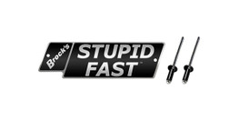 Buy STUPID FAST Logo Plate 4in Black w/ Silver Letters (Includes Rivets) SKU: LP364991 at the price of US$ 27.99 | BrocksPerformance.com