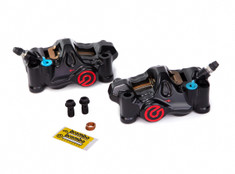Buy Brembo .484 Café Front Caliper Set (Radial Mount) Anthracite Black SKU: 705075 at the price of US$  1399 | BrocksPerformance.com