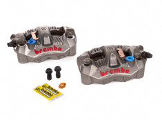 Buy Brembo GP4-RS Front Caliper Set (Radial Mount) Titanium Grey SKU: 705192 at the price of US$  799 | BrocksPerformance.com
