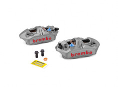 Buy Brembo M4 Front Caliper Set (Radial Mount) Titanium Grey 705257 at the best price of US$ 699 | BrocksPerformance.com
