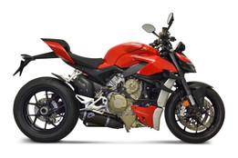Buy Termignoni Dual Black Slip-On Exhaust Kit Ducati Streetfighter V4 (20-21) SKU: 753604 at the price of US$ 2895 | BrocksPerformance.com