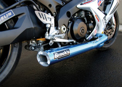 "Buy TiWinder Blue Full System w/ 18"" Muffler Street Baffle GSX-R1000 (07-08) 390235 at the best price of US$ 2199 