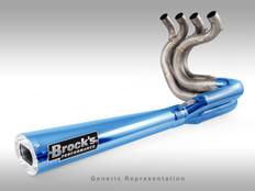 "Buy TiWinder Blue Full System w/ 18"" Muffler Street Baffle GSX-R1000 (01-04)  390326 at the best price of US$ 2199   BrocksPerformance.com"