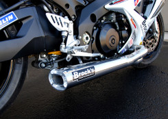"Buy TiWinder Polished Full System w/ 18"" Muffler Street Baffle GSX-R1000 (07-08) 390261 at the best price of US$ 1999 