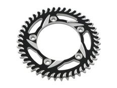 Buy Vortex Rear Sprocket 40 Tooth Black & Silver 525 Chain S1000RR (10-19), S1000R (14-20), and S1000XR (15-19) SKU: 453369 at the price of US$  74.95 | BrocksPerformance.com