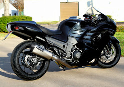 "Buy CT Single Full System w/ 16"" QuietKore Muffler ZX-14/R (06-20) 397606 at the best price of US$ 2099 