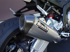 "Buy CT Single Full System w/ 16"" QuietKore Muffler S1000RR (10-14) and S1000R (14-16) 397632 at the best price of US$ 2099 