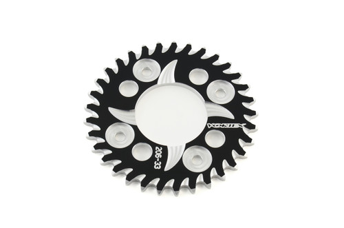 Vortex Rear Sprocket 36 Tooth Black & Silver 420 Chain Grom/MSX125 (14-20) / Monkey (2019)