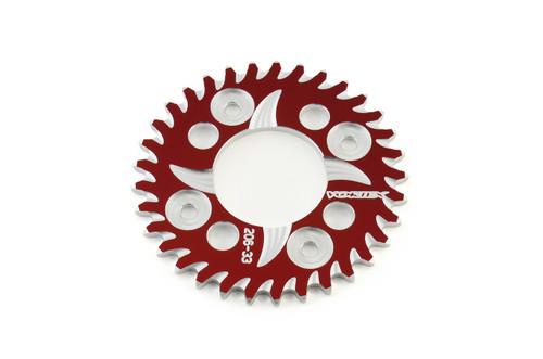Vortex Rear Sprocket 33 Tooth Red & Silver 420 Chain Grom/MSX125 (14-19) / Monkey (2019)