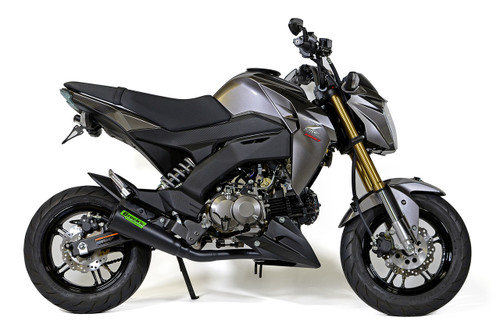 """ShortMeg 2 Full System Black Cerakote® 12"""" Muffler Z125 Pro (17-20)"""